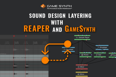marker sound design layering with game synth and reaper