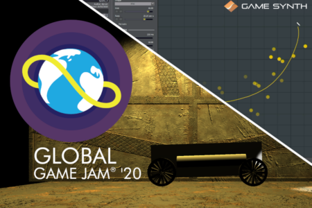 using particles model in gamesynth at global game jam 2020 blog banner
